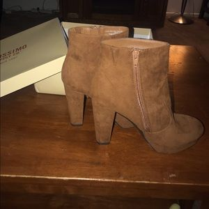 NWOT Mossimo Brown Suede Booties